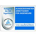 Auszeichnung Ausgezeichneter Arbeitgeber für Ingenieure VDI Nachrichten Logo