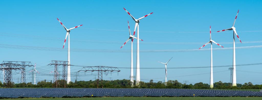 Projektmanagement Regelenergie Windräder und Solaranlage