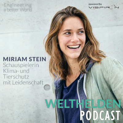 Cover Miriam Stein Welthelden Podcast